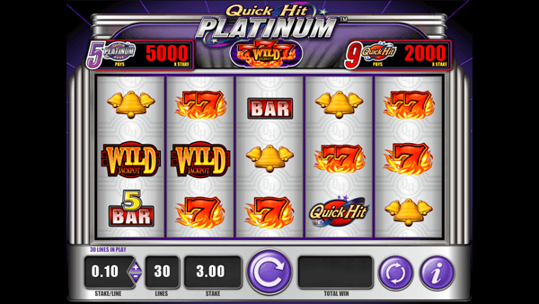 Quick Hit Platinum 777 Wild Jackpot
