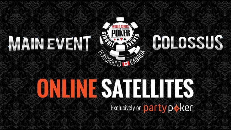Online satellites for WSOP-C Playground Colossus and Main Event