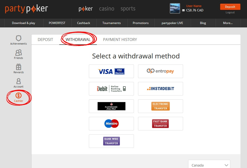 partypoker Withdrawls