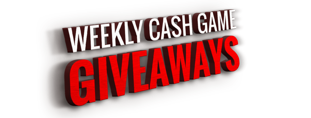 Weekly cash game giveaways
