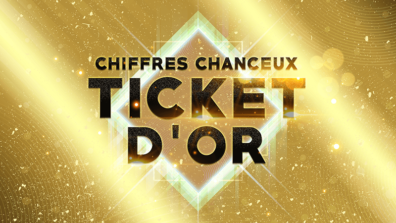 Ticket d'Or Chiffres Chanceux