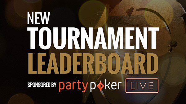 Tournament Leaderboard sponsored by partypoker